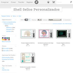 Shell Custom Postage and Shell Zazzle Custom Stamps