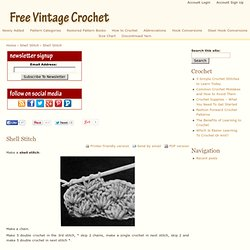 Shell Stitch | Free Vintage Crochet Patterns