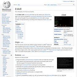 Z shell