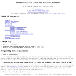 Shellcoding for Linux and Windows Tutorial