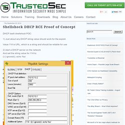 Shellshock DHCP RCE Proof of Concept -