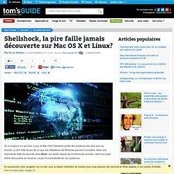 Shellshock, la pire faille jamais découverte sur Mac OS X et Linux?