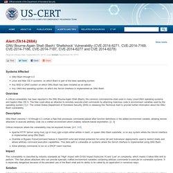 GNU Bourne Again Shell (Bash) 'Shellshock' Vulnerability (CVE-2014-6271, CVE-2014-7169)