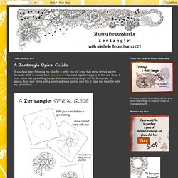 Shelly Beauch: A Zentangle Spiral Guide