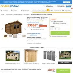 Abri en bois massif 9m² PLUS 28mm traité teinté marron Gardy Shelter - GARDYSHELTER3365 - Jardin piscine