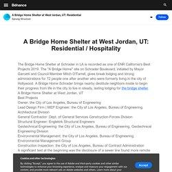 A Bridge Home Shelter at West Jordan, UT: Residential / Hospitality