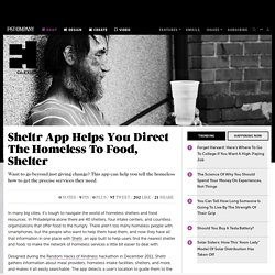 Sheltr App Helps You Direct The Homeless To Food, Shelter
