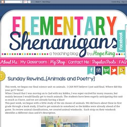 2nd Grade Shenanigans: Sunday Rewind…{Animals and Poetry}