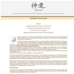 Ecole de formation au massage : Philosophie du Yin et du Yang