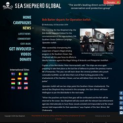 Sea Shepherd Global - Bob Barker departs for Operation Icefish