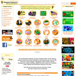 Sheppard Software: Fun free online learning games and activities for kids.