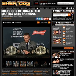 Sherdog's Official Mixed Martial Arts Rankings - The Middle Gets Even Thicker
