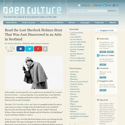 Read the Lost Sherlock Holmes Story That Was Just Discovered in a Scotland Attic