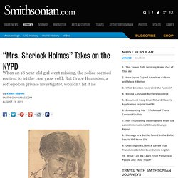 """Mrs. Sherlock Holmes"" Takes on the NYPD 