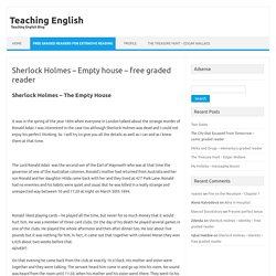 Sherlock Holmes - Empty house - free graded reader
