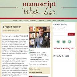 Brooks Sherman - The Official Manuscript Wish List Website