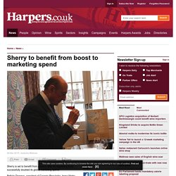 Sherry to benefit from boost to marketing spend