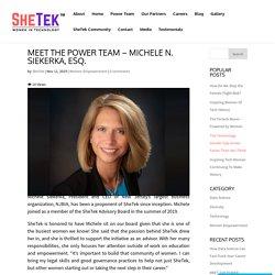 SheTek Power Team Michele Siekerka of NJBIA