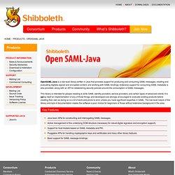 Consortium - OpenSAML-Java