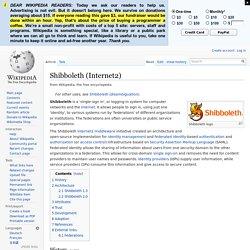 Shibboleth (Internet2)