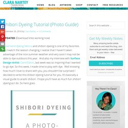 Shibori Dyeing Tutorial (Photo Guide) - CLARA NARTEY