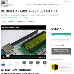 BE SHIELD - ARDUINO'S BEST MATCH