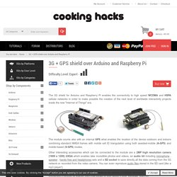 3G + GPS shield over Arduino and Raspberry Pi