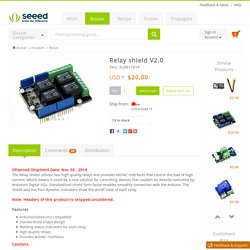 Buy Relay shield V2.0 [SLD01101P]