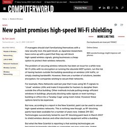 New paint promises high-speed Wi-Fi shielding