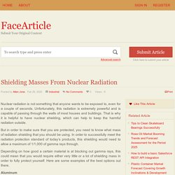 Shielding Masses From Nuclear Radiation - FaceArticle