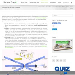 Shielding of Ionizing Radiation - Nuclear Power