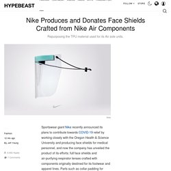Nike TPU Face Shields and PAPR Lenses for Medical Staff