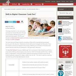 Shift to Digital: Classroom 'Look Fors'