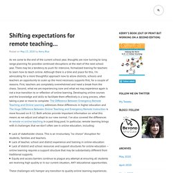 Shifting expectations for remote teaching… – edteki