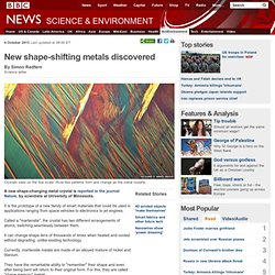 New shape-shifting metals discovered
