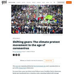Shifting gears: The climate protest movement in the age of coronavirus