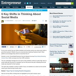 6 Key Shifts in Thinking About Social Media