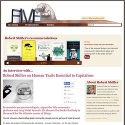 Robert Shiller on Human Traits Essential to Capitalism
