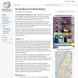 Yonah Shimmel's Knish Bakery