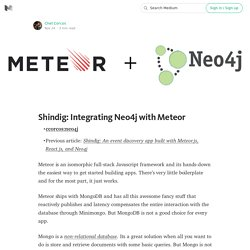 Shindig: Integrating Neo4j with Meteor