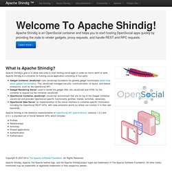 Shindig - Welcome To Apache Shindig!