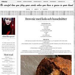 shinelikeapearl: Brownie med kola och hasselnötter