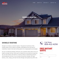Shingle Roofing Services in Lexington, KY - Roofing Lexington, KY