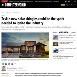 Tesla's new solar shingles could be the spark needed to ignite the industry