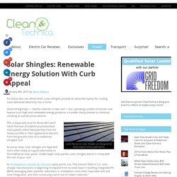 Solar Shingles: Renewable Energy Solution With Curb Appeal
