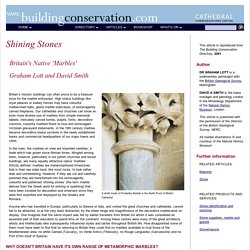 Shining Stones: Britain's Native Marbles