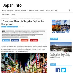 16 Must-see Places in Shinjuku: Explore the Unexplored!