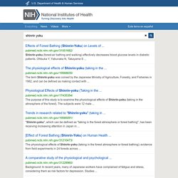shinrin yoku - National Institutes of Health Search Results