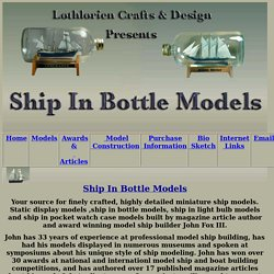 Ship In Bottle Models