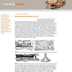 Ship Model Making : Mounting A Ship Model. Part 1
